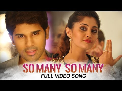 Okka Kshanam Full Video Songs - So Many So Many Full Video Song | Allu Sirish, Surbhi, Seerat Kapoor