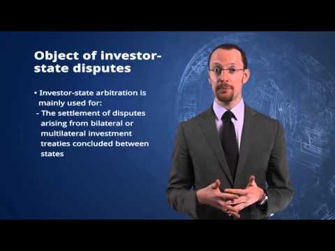 3.3 Introduction to Investor  State Arbitration
