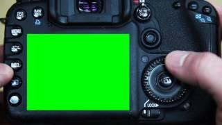 Футаж Фотокамера дисплей хромакей