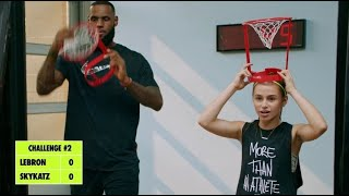 Playing basketball w/ LEBRON for Nike's