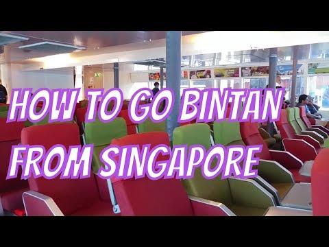 Singapore to Bintan Resorts, Indonesia via Tanah Merah Ferry Terminal (on Bintan Resorts Ferry)