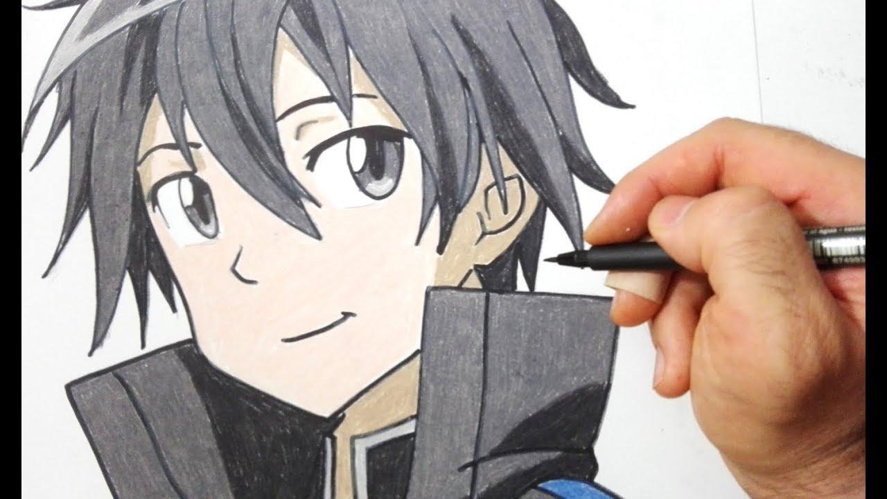 Come Disegnare Kirito Di Sword Art Online Youtube