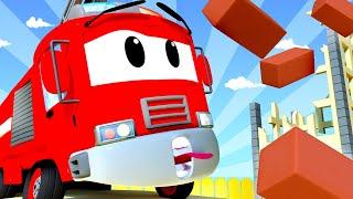 Tom la Dépanneuse -  Franck le camion de pompier - La Ville des Voitures 🚓 🚒 Dessin animé