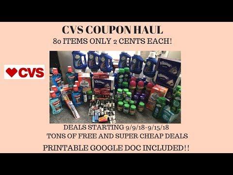 CVS Coupon Haul Deals Starting 9/9/18~80...
