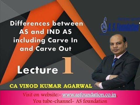 Differences between AS and IND AS including Carve In and Carve Out Lecture 1 Latest Recording