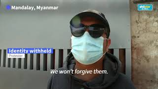 Myanmar coup : We won't forgive them,  says mourner as clashes continue