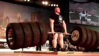 Worlds Strongest Man 2013 - Benedikt Magnusson 1100 Tire Deadlift WORLD RECORD!