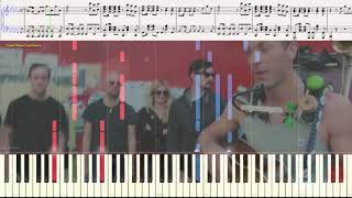 A Sky Full of Stars - Coldplay (Ноты и Видеоурок для фортепиано) (piano cover)