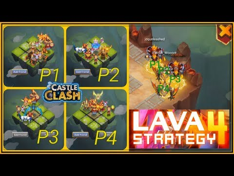 LAVA 4 STRATEGY EXPLAINED - CASTLE CLASH