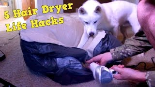 5 Hair Dryer Life Hacks