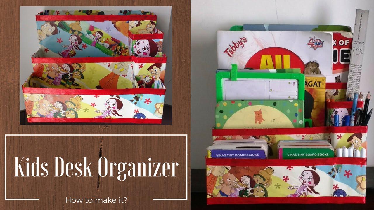 Kids desk organizer cereal box multipurpose organizer for Cereal organizer