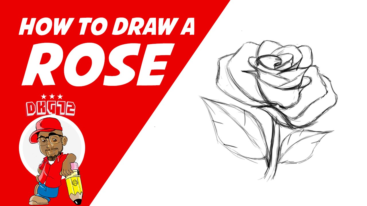 How To Draw A Rose  Drawing With Dkg72