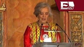 Elena Poniatowska agradece Premio Cervantes con discurso / Excélsior informa