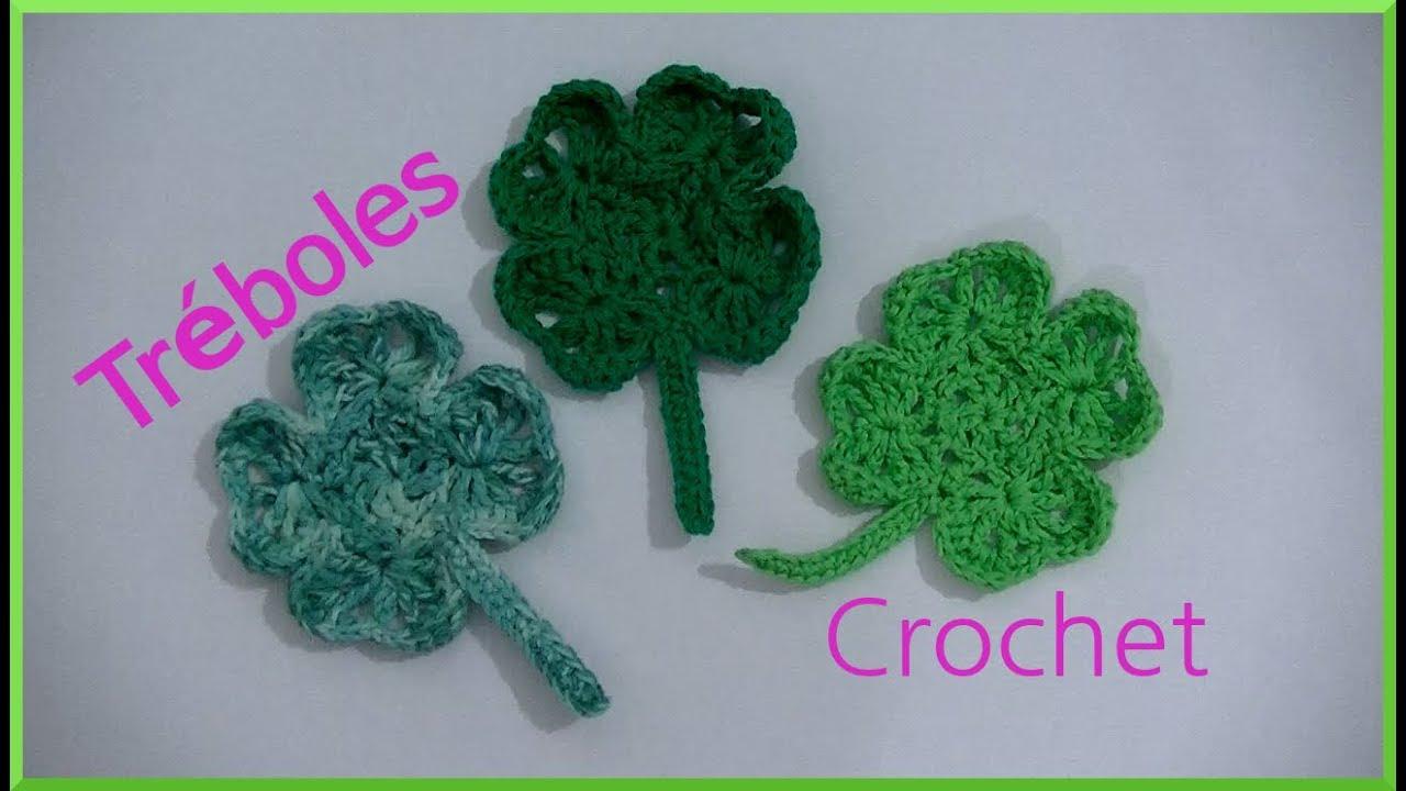 Como hacer un #Trébol de 4 hojas en tejido crochet tutorial paso a ...