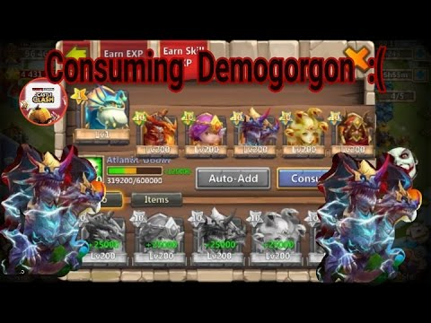 Castle Clash Consuming Demogorgon 226K Might Account