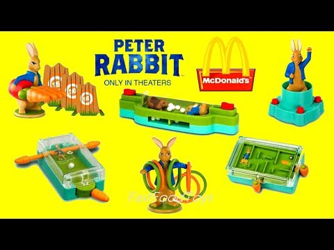 2018 McDONALD'S PETER RABBIT MOVIE HAPPY MEAL TOYS FULL SET 6 KIDS WORLD COLLECTION US CANADA UK EUR