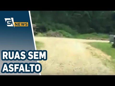 Ruas de um bairro de Suzano estão sem asfalto