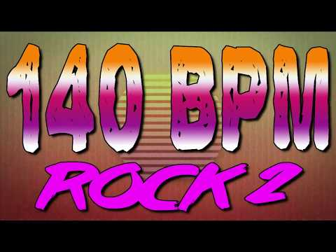 140 BPM - Rock 2 - 4/4 Drum Track - Metronome - Drum Beat