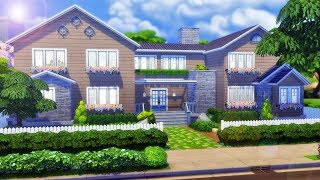 Big 8 Bedroom Suburban Family Home - The Sims 4 House Speed Build