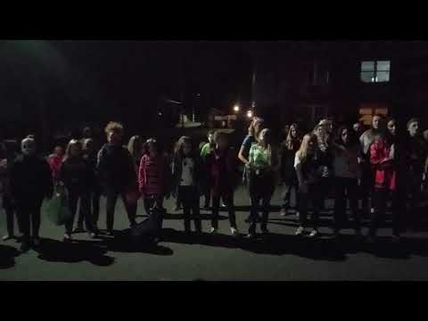 Shikellamy Middle School Chorus at the Northumberland Halloween Parade
