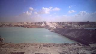 Moment the flow of water from the current Suez Canal to the new channel Sector East