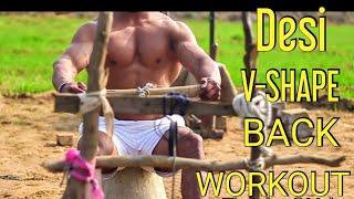 DESI - V-shape Back Workout⚫  Beginners Series   Lesson 1  Vipin Yadav  