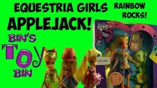 Equestria Girls Rainbow Rocks Applejack My Little Pony Doll Review! By Bin's Toy Bin