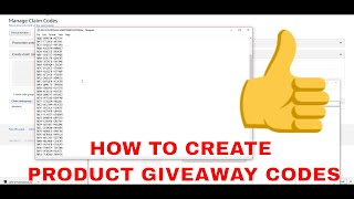How to Create Product Giveaway codes on amazon!