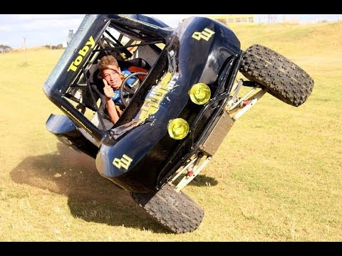 Trophy Kart With Toby Whateley. Driving On 2 Wheels In The Dirt Wars Clothing Kart