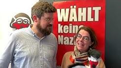 Nazis einen Vogel zeigen - Nadja Lüders bei Storch Heinar
