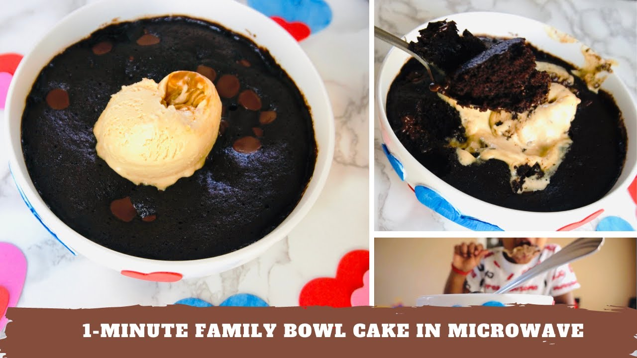 1 MINUTE MICROWAVE CAKE IN A BOWL | MICROWAVE CAKE IN A ...