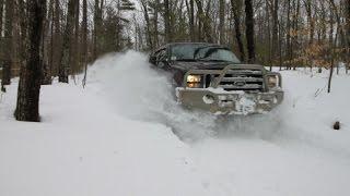 Ford Excursion, Land Rover LR3 Snow wheeling - 3' snow with ExploringNH