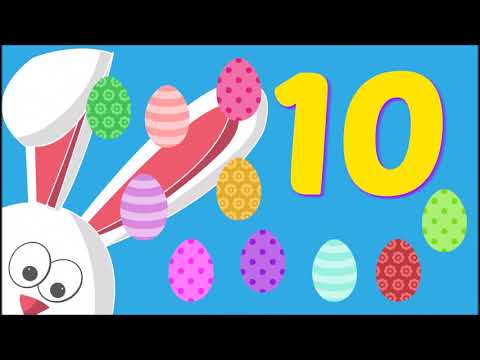 Counting to 10 Forward and Backwards | Easter Toddler Pre-K Preschool Learning Video ESL