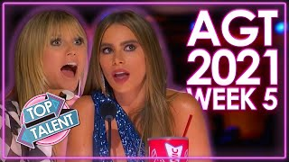 TOP 5 MIND BLOWING Auditions On America's Got Talent 2021! | WEEK 5 | Top Talent