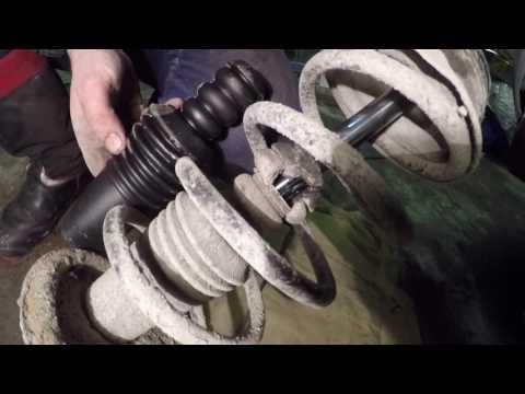 Замена амортизатора передней стойки рено логан