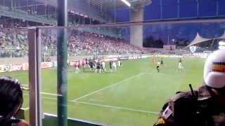 Briga no jogo do Palmeiras1 x 1 America-MG no estadio indenpendencia 14/09/2013