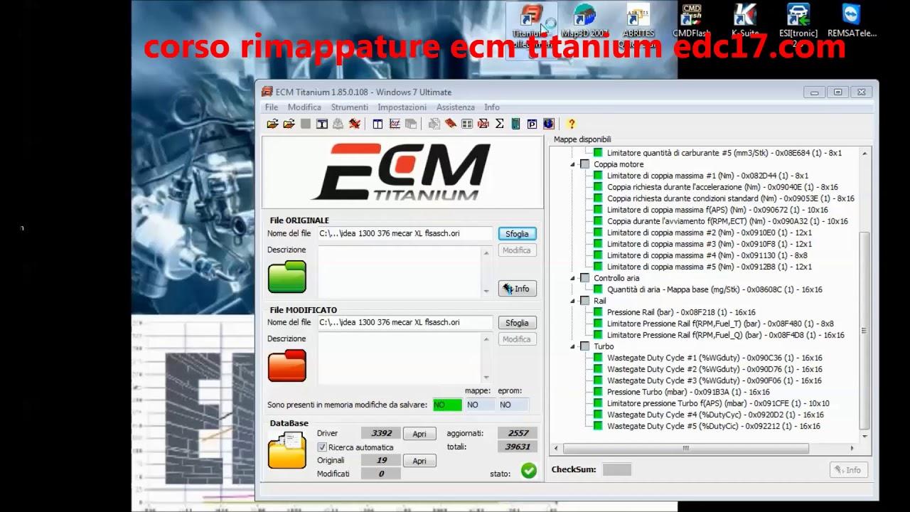 ecm titanium как работать