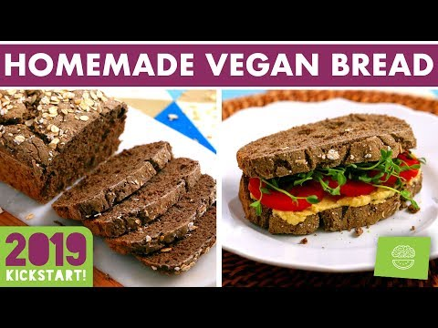 Vegan + Gluten Free Bread Recipe! NO Yeast! #kickstart2019