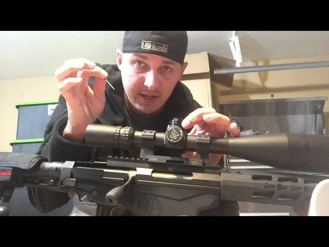 Adjusting zero stop on a NightForce NXS sitting on a Ruger Percision Rifle in 6.5 Creedmoor