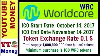 Worldcore ICO review WRC tokens In Hindi (Get a bonus from 3% to 25%)