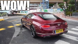NEW 2018 Bentley Continental GT Driving in MONACO!