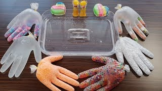 Mixing Slime Ingredients into Clear Slime - #GloveSlime