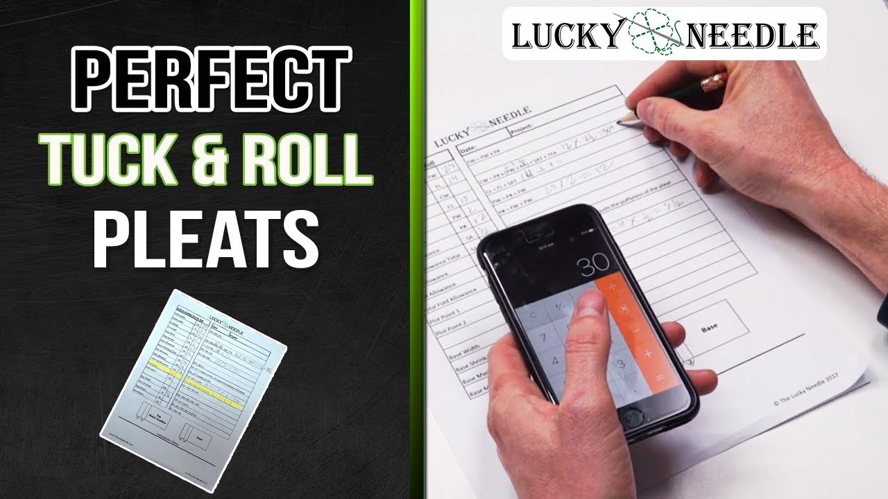 Calculating Perfect Tuck Roll Pleats Auto Upholstery Youtube