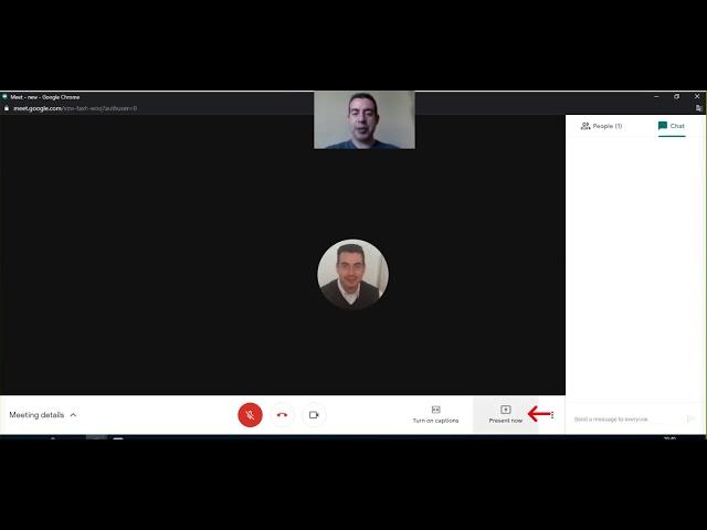 Google Meet - Iniciar sesión, compartir pantalla
