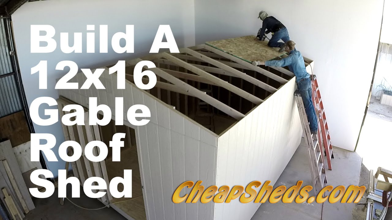 How To Build A 12x20 Gable Roof Shed In 10 Minutes Youtube