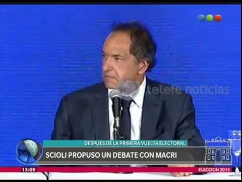 (video) MACRI Y SCIOLI DEBATIRÁN EL 15 DE NOVIEMBRE A LAS 21 EN LA FACULTAD DE DERECHO