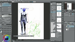 Gambar cover CLIP STUDIO PAINT useful features : 3D drawing figures