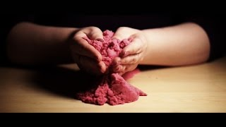 Binaural ASMR. Touching Kinetic Sand & Whispering