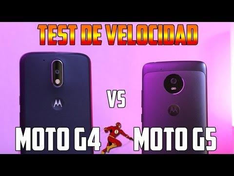 TEST de VELOCIDAD Moto G5 vs Moto G4 |speedtest|Tecnocat