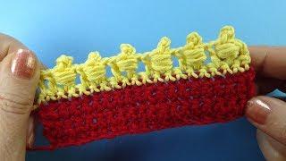ФАНТАЗИЙНАЯ КАЙМА Crochet border   урок вязания крючком  367